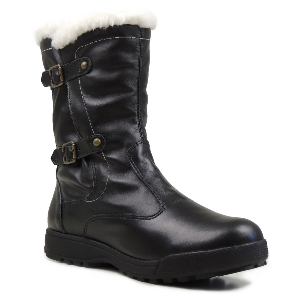 Bota Fiero Linha Neve. Forro 100% em lã sintética. Couro legítimo. Ref.:553. Ideal para caminhadas na neve e lugares de frio intenso. Aquece os pés com qualidade e muito conforto. Marca Brasileira.