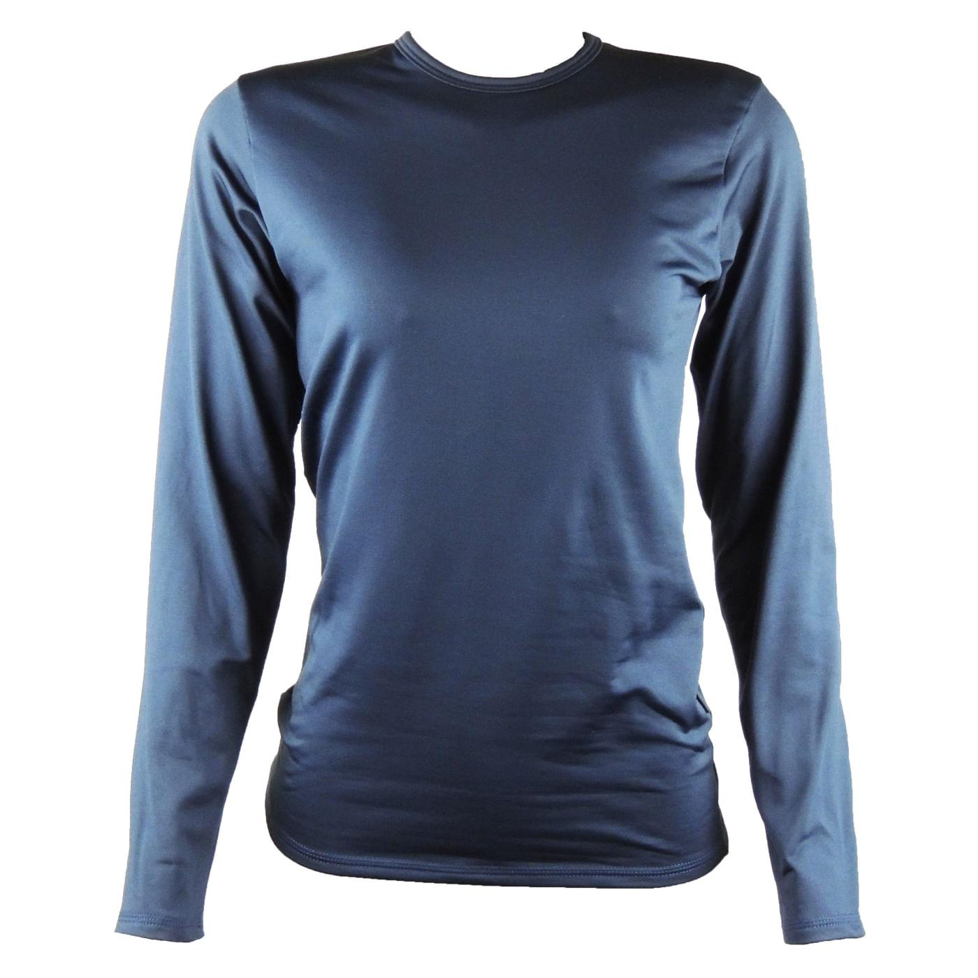 Blusa feminina azul marinho segunda pele térmica - fieroshop 2eef410979338