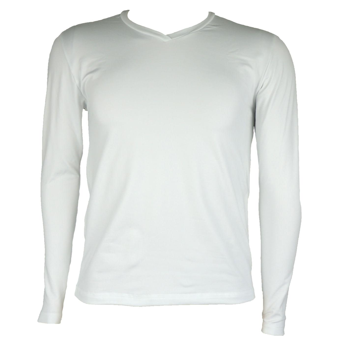 a55ffb8d68a9b Blusa térmica masculina gola v cor branca para o inverno - fieroshop