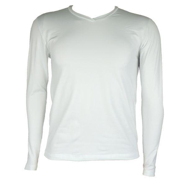 Blusa térmica masculina gola v cor branca para o inverno - fieroshop 40bb7a79e0c5e