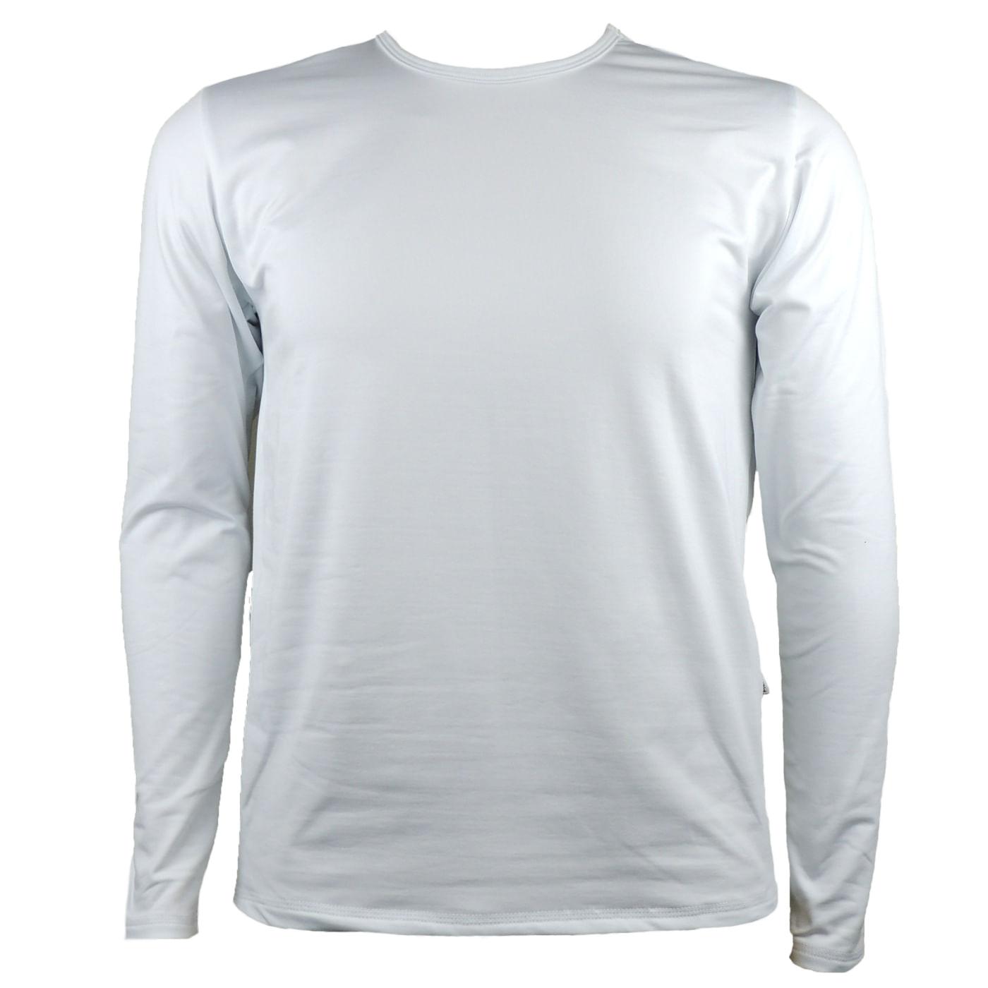 Blusa Térmica Masculina na Cor Branca  6f6badb111d3d