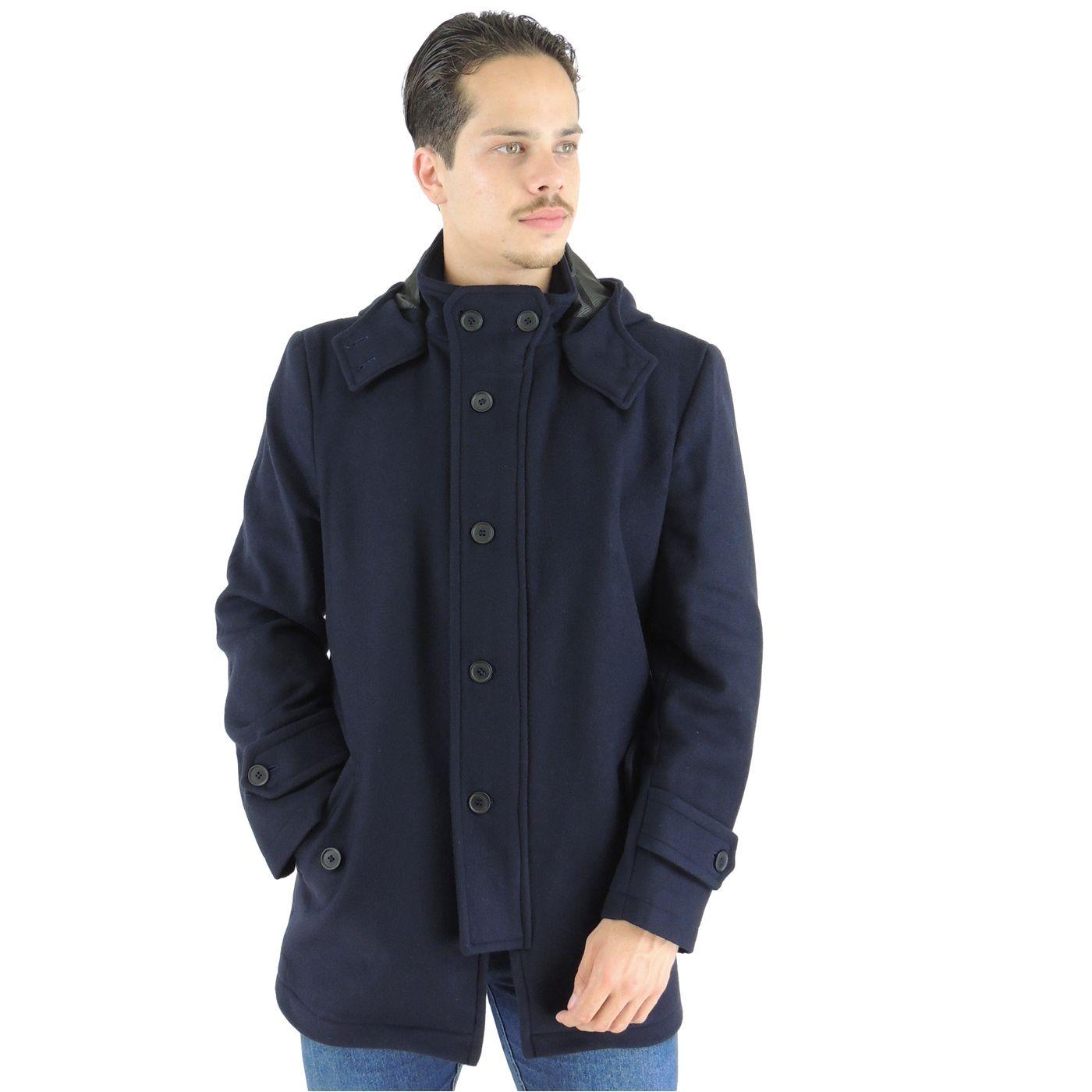 8574b1bf9b568 Casaco Masculino para o inverno e frio intenso azul marinho com ...