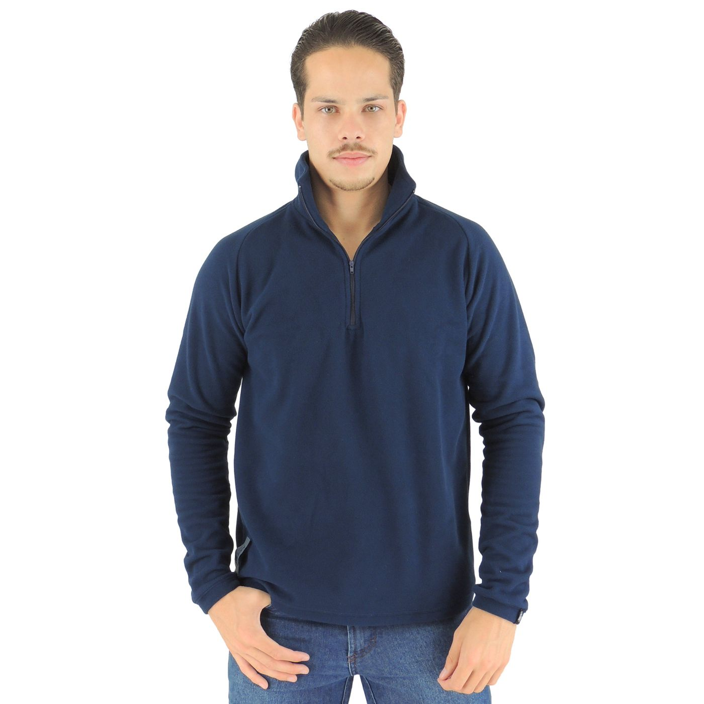 Fleece termico masculino azul marinho - fieroshop 25dad48c5996d