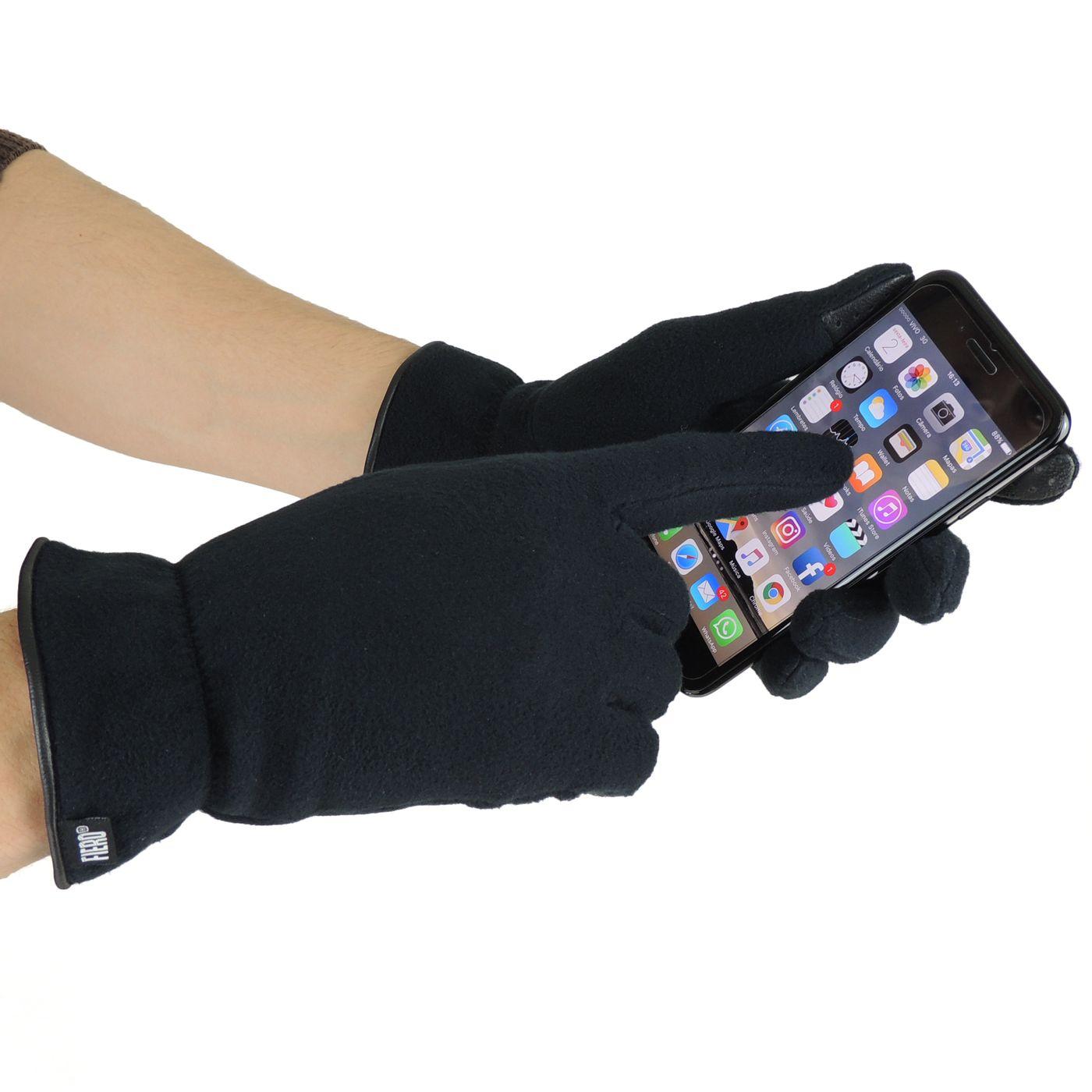Luva com tecido soft e sistema touch screen - fieroshop 0714d8aa28f