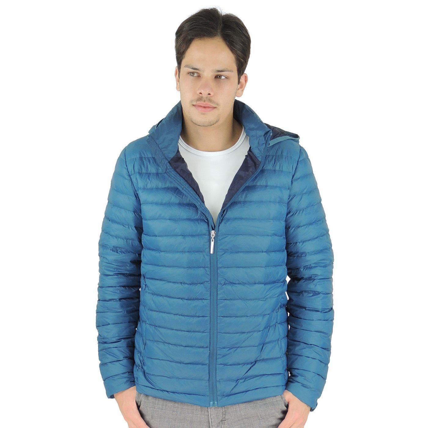 d45d77e963e0e Jaqueta Azul de Plumas para o inverno