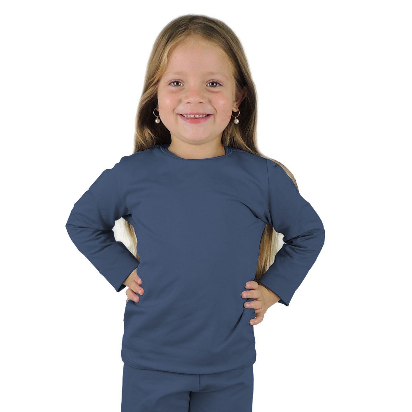 b83efcda9 Blusa termica infantil segunda pele azul marinho - fieroshop