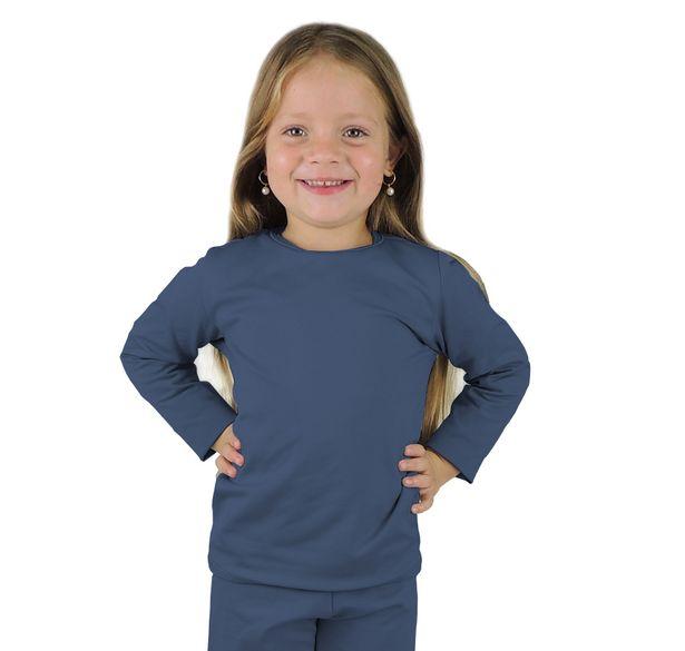 Blusa termica infantil segunda pele azul marinho - fieroshop 70966e6cd66