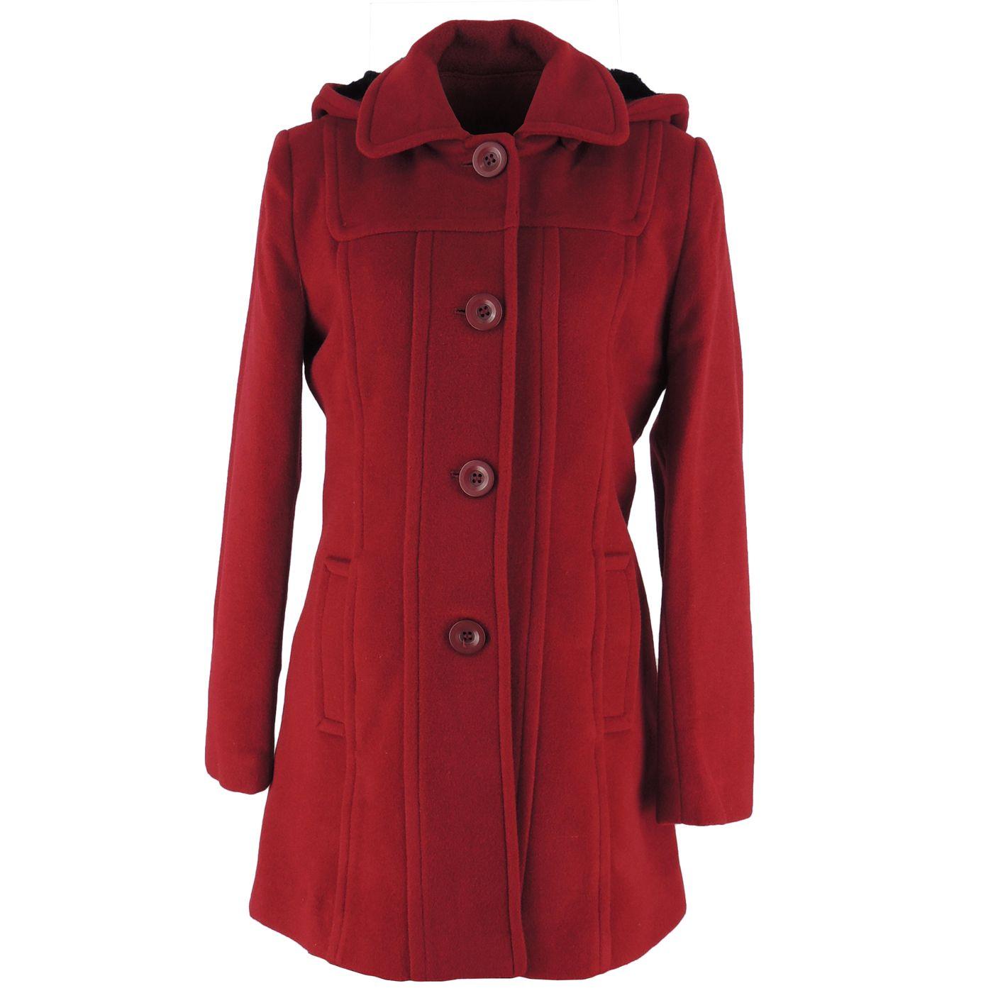Casaco Longo para o frio em lã uruguaia Premium Berlim Vermelho - fieroshop a2f3f1f11ae64