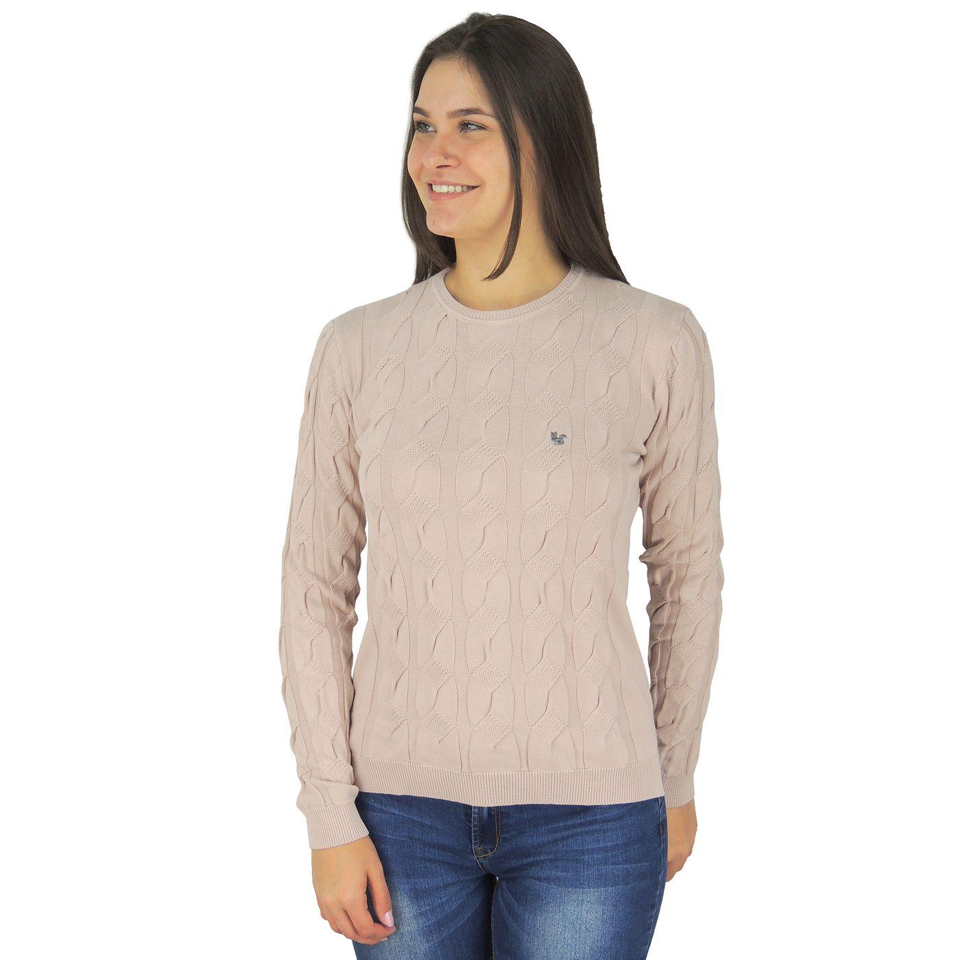 Suéter Feminino Algodão Soho Rosa Pele - fieroshop 2450fbc8cdc