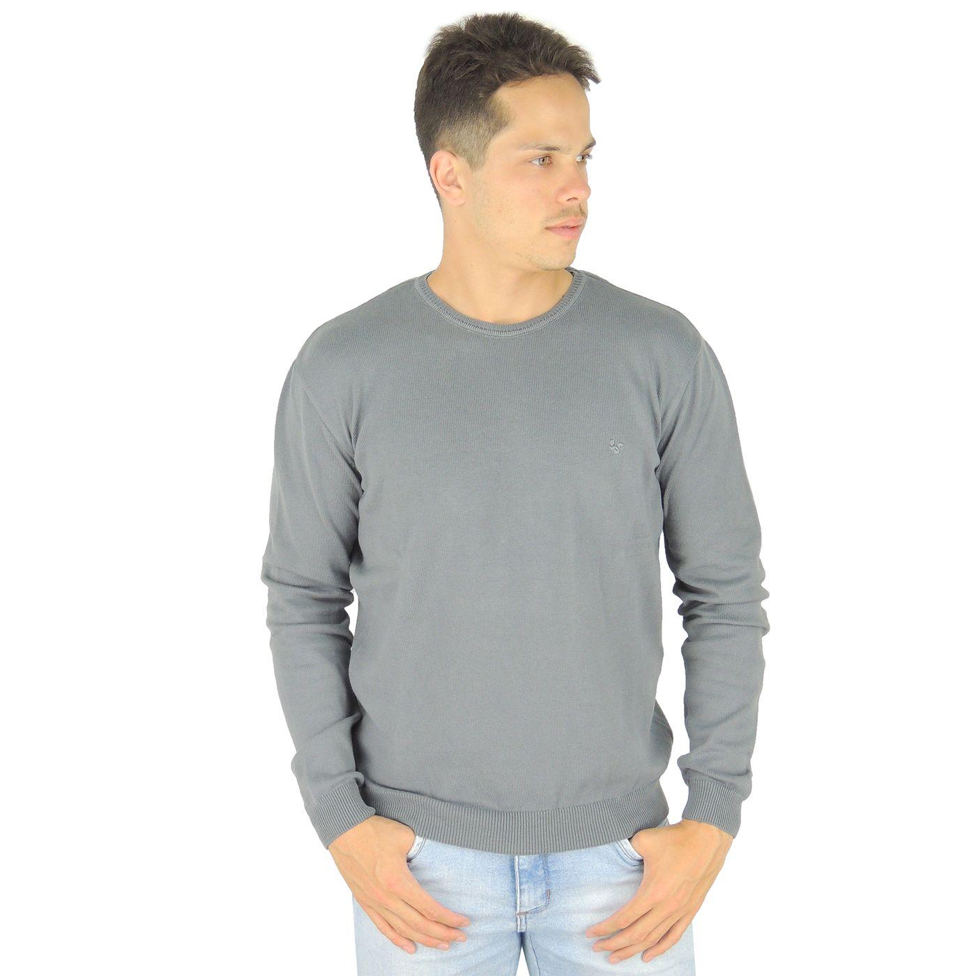 Suéter masculino em tricô brooklyn para o frio - fieroshop adb1c18ba15