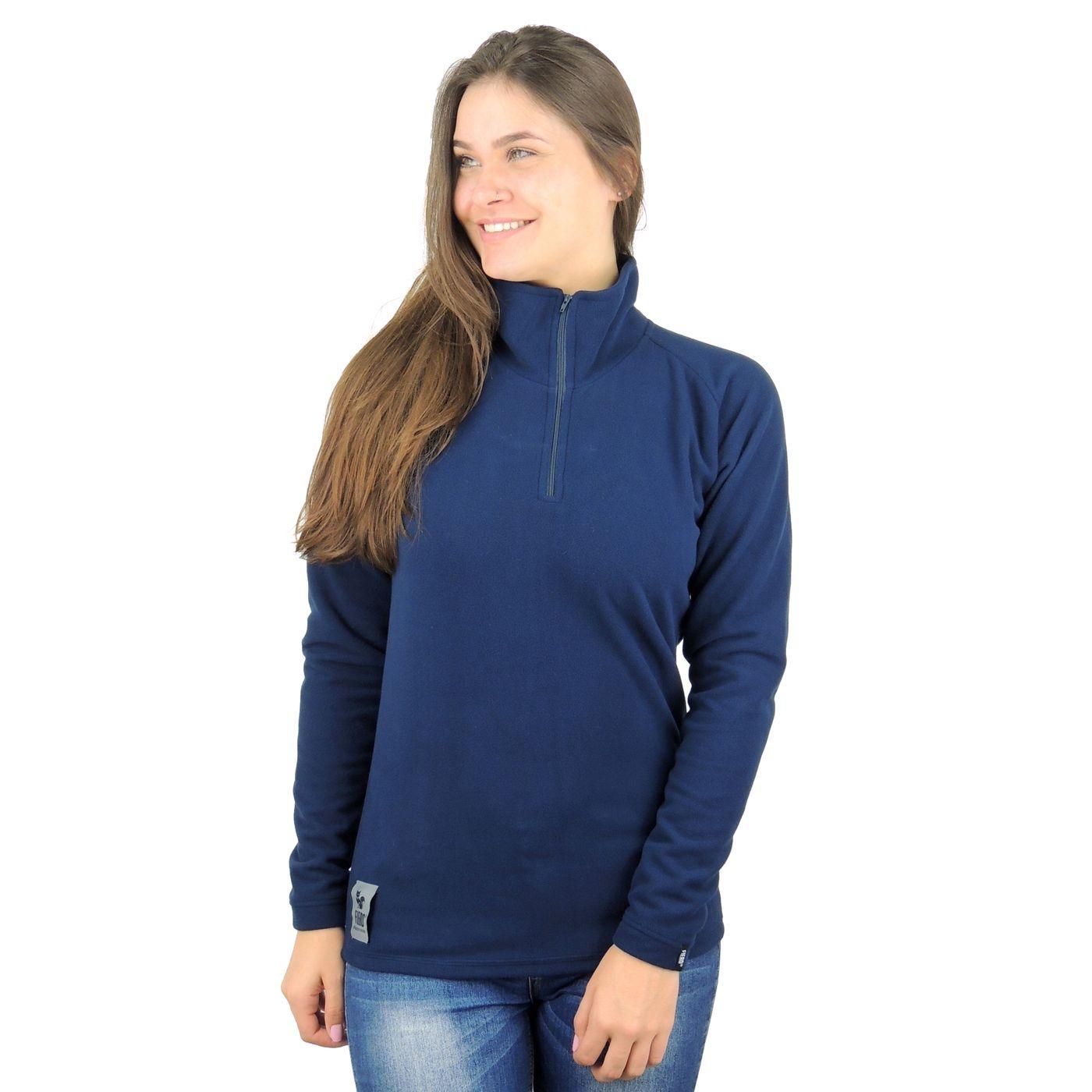 Blusa de Fleece Térmico Meio Zíper Feminino FIERO - fieroshop 14f79006fdd1f
