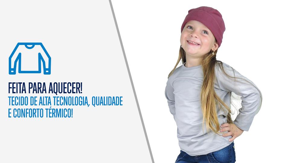 Blusa Térmica Infantil para Inverno - Neve e Frio  70ce46783a6e2