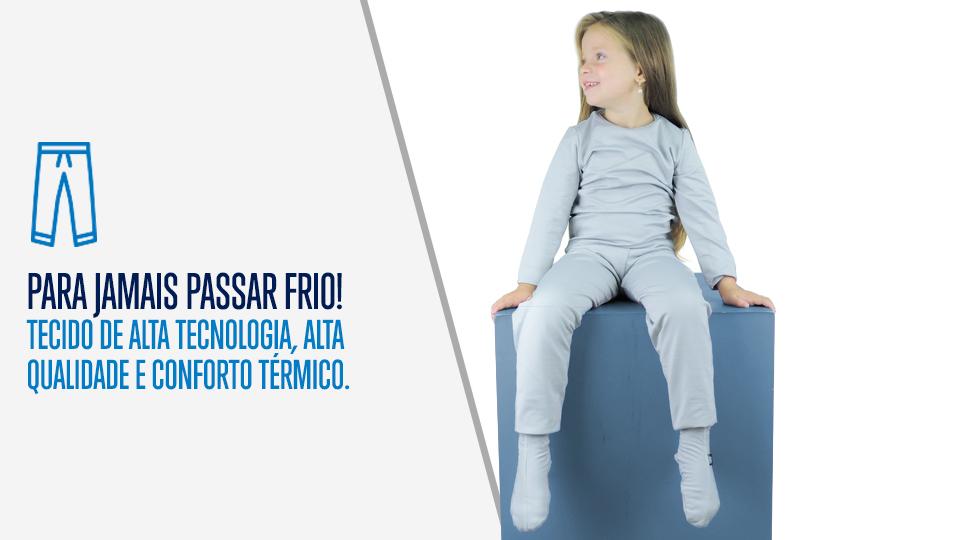 Calça Térmica Infantil para Inverno - Neve e Frio  990f70270686d