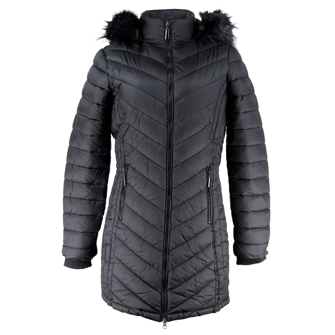 2bcc0de7c Casaco Longo feminino com capuz removível para o frio intenso - fieroshop