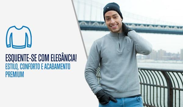 Masculino - Vestuário - Suéter e Tricô Redonda – mobile fiero d77b33f32bf