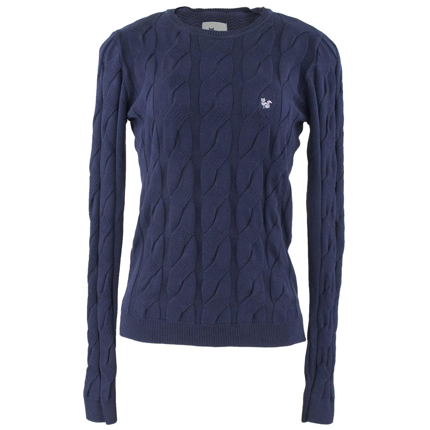 2d8aa69c4 Suéter Feminino Inverno Soho em algodão premium azul marinho - fieroshop