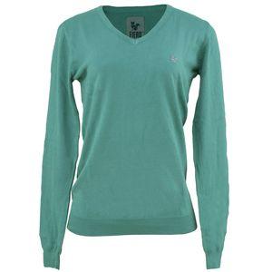 sueter-feminino-gola-v-em-trico-cor-verde-fiero