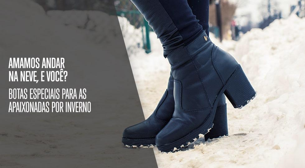 fem botas para neve