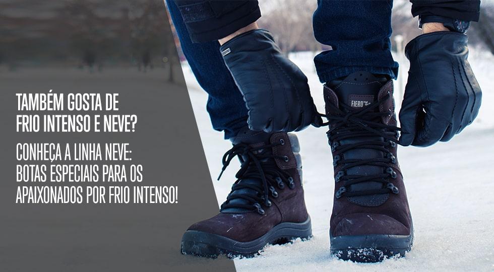 0470e6c39 Masculino - Calçados - Botas para Neve Couro impermeável – fieroshop