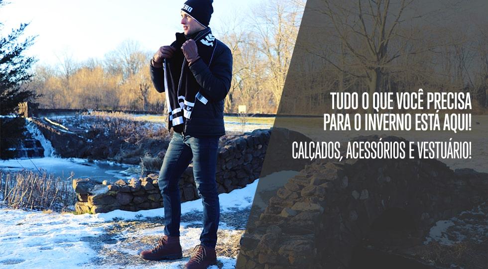 4785ab12f Linha Masculina de Calçados e Roupas de Inverno