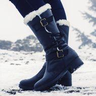 bota-preta-para-andar-na-neve-em-couro