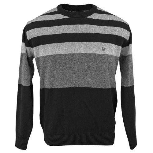 sueter-masculino-listrado-cinza-e-preto-em-trico