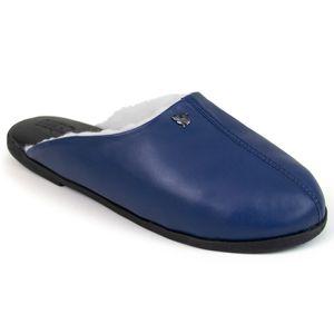 pantufa-azul-em-couro-forrada