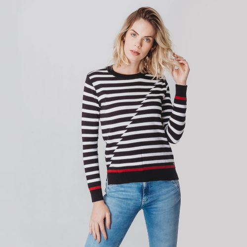 sueter-trico-feminino-listrado-preto-e-branco