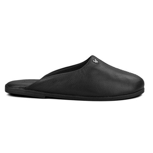 pantufa-de-couro-preto