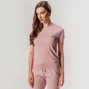 blusa-feminina-rosa-em-trico-manga-curta