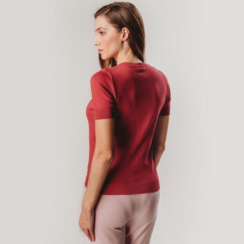 blusa-trico-vermelho-manga-curta