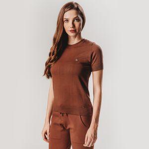 blusa-feminina-manga-curta-em-trico-castanho