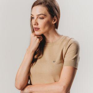 trico-bege-manga-curta-feminino