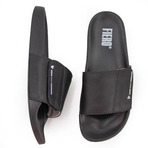 slide-masculino-de-couro-preto