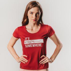 camiseta-manga-curta-feminina-vermelha-fiero-com-tecido-premium