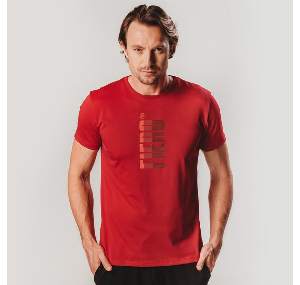 camiseta-masculina-manga-curta-vermelha