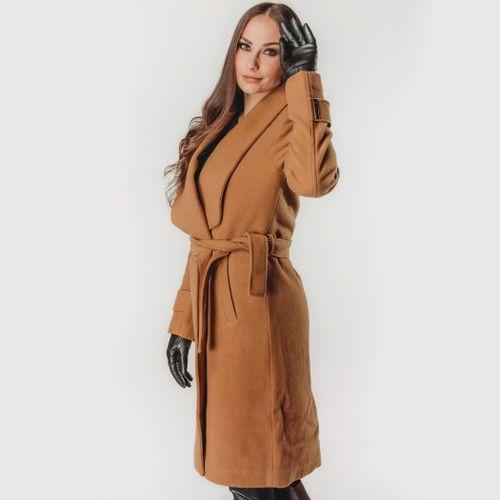 casaco-longo-castanho-para-o-frio-intenso
